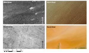 Дюны на Титане и Земле (esa.int)