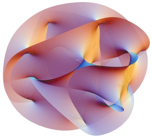 Визуализация многообразия Калаби-Яу (space.com)