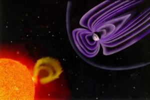 Плазма, выбрасываемая Солнцем,