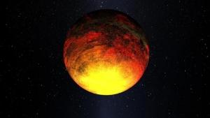 Взгляд художника на планету Kepler-10b (space.com)