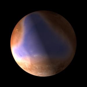 Моделирование океана, существовашего на севере Марса (esa.int)