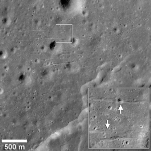 Грабены на снимке LRO (space.com)