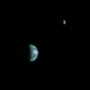 Земля и Луна с орбиты Марса (wikipedia.org)