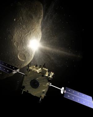 Удар болванокй по астероиду - самый простой способ слегка изменить его орбиту (space.com)