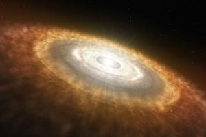 Диск пыли и газа около Солнца - стандартное место рождения планет (wustl.edu)