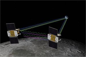 Взгляд художника на зонды GRAIL (nasa.gov)