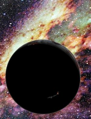Планета, летящая через галактику в изображении художника (cfa.harvard.edu)