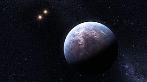 Gliese 667 Cb и две звезды системы в представлении художника (wikipedia.org)