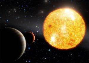 Взгляд художника на звезду HIP 11952 и ее две планеты (sciencedaily.com)