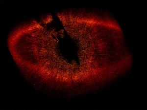 Снимок протопланетного диска около звезды HD 216956, сделанный Хабблом (space.com)