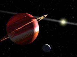 Взгляд художника на ближайшую к нам известную экзопланету Эпсилон Эридана b (space.com)