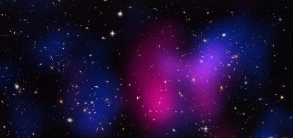 Скопление на расстоянии 5.2 миллиардов световых лет от Земли (chandra.harvard.edu)