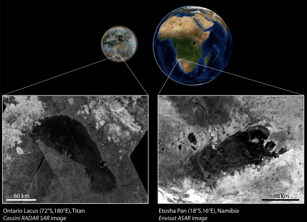 Сравнение с земным аналогом (esa.int)