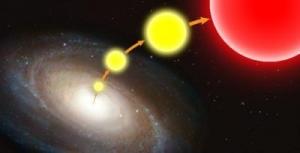 Схематичное изображение звезды-беглеца (vanderbilt.edu)