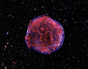 Остатки сверхновой Тихо Браге (cfa.harvard.edu)