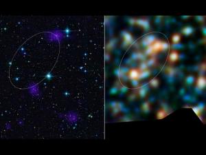 Интересно, где тут астрономы нашли полосу галактик? (nasa.gov)