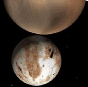 Изображение Плутона и Харона, возможно, двойной системы (cfa.harvard.edu)