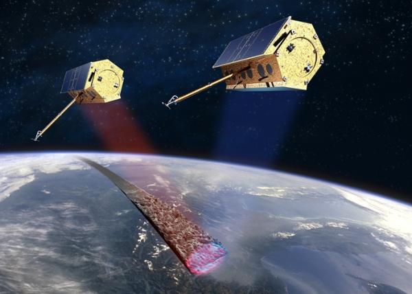 Два аппарата, зондирующие один элемент поверхности Земли  под разными углами (astrium.eads.net)