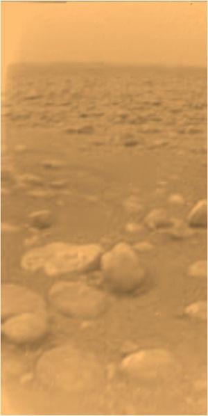 Снимок спускаемого аппарата Гюйгенс (wikipedia.org)