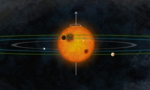 Взгляд художника на Кеплер-30 (space.com)