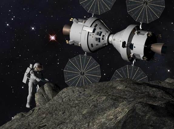 Высадка на астероид (изображение - http://www.space.com)