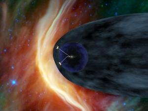 Взгляд художника на аппараты, покидающие Солнечную систему (nasa.gov)