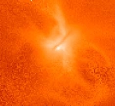 Результат моделирования рождения звезды (cfa.harvard.edu)