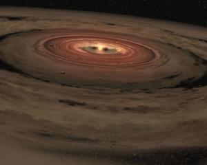 Рисунок газопылевого диска около звезды (sigarra.up.pt)