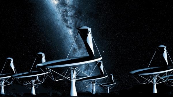 Рисунок будущих основных телескопов SKA (space.com)