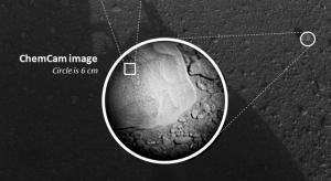 Камень, выбранный первой целью лазера (jpl.nasa.gov)