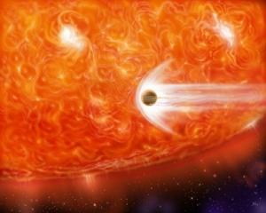 Рисунок поглощения планеты красным гигантом (psu.edu)