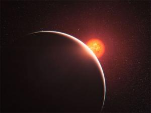Рисунок экзопланеты, проходящей перед своей звездой (space.com)