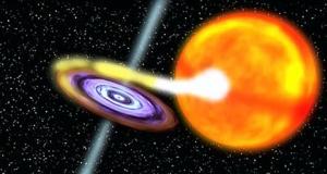 Рисунок дыры, перетягивающей материю со звезды (nasa.gov)