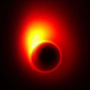 Моделирование искривления изображения потока около черной дыры (web.mit.edu)