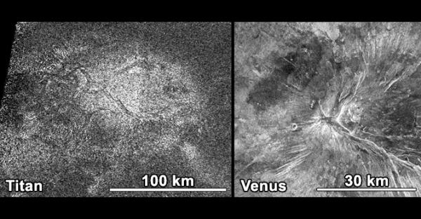 Хлебная корка на Титане и Венере (nasa.gov)