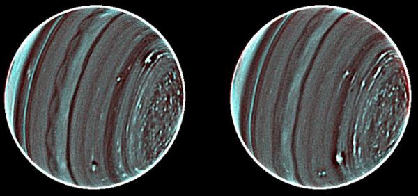 Снимки Урана при помощи телескопов Кека (berkeley.edu)