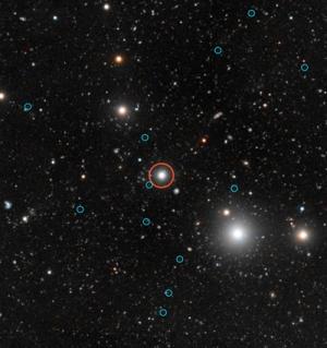 Квазар и темные галактики, освещенные его излучением (kavlifoundation.org)
