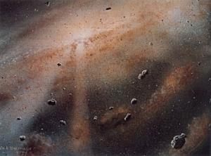 Рисунок ранней Солнечной системы (wikipedia.org)