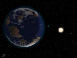 Художник выражает наше желание найти вторую Землю (space.com)
