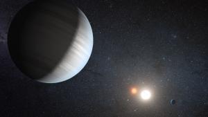 Рисунок двойной системы Кеплер-47, содержащей две известные планеты (space.com)