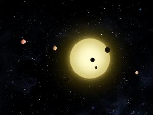 Рисунок густонаселенной планетной системы (nasa.gov)