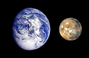 Земля и Марс (sciencedaily.com)