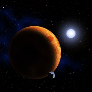 Рисунок планеты около белого карлика (space.com)
