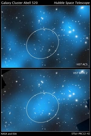 Сравнение снимков двух камер Хаббла (ohio.edu)