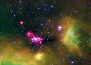 Область звездообразования в Змее (uchicago.edu)