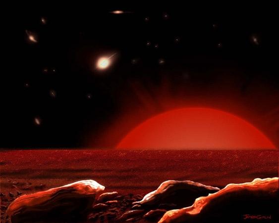 Рисунок умирающей Земли (space.com)