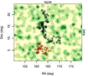 Вытянутое скопление квазаров (newscientist.com)