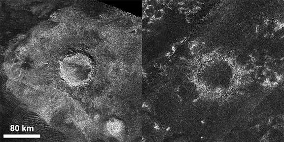 Молодой и старый кратеры Титана (nasa.gov)