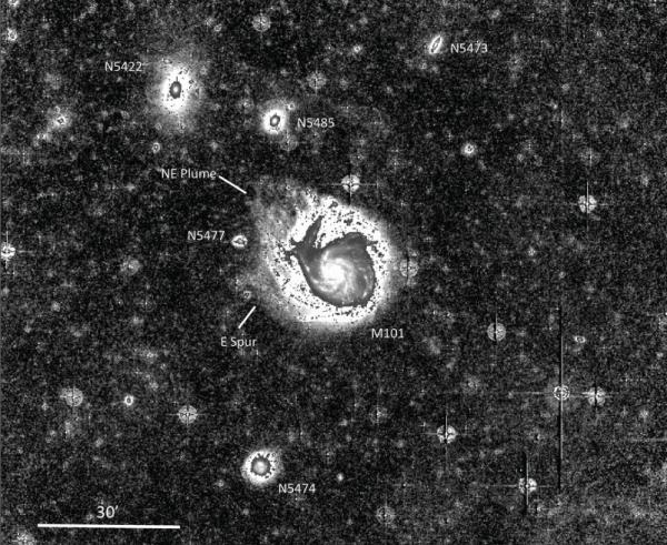 Снимок М101 и ее окружения (case.edu)