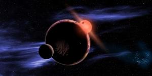 Рисунок планеты около красного карлика (nasa.gov)